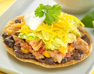 Chipotle Chicken Tostada Recipe with Wisconsin Cheese